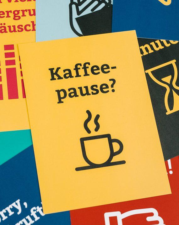 BR Videokonferenzkarten Kaffeepause? Hochformat