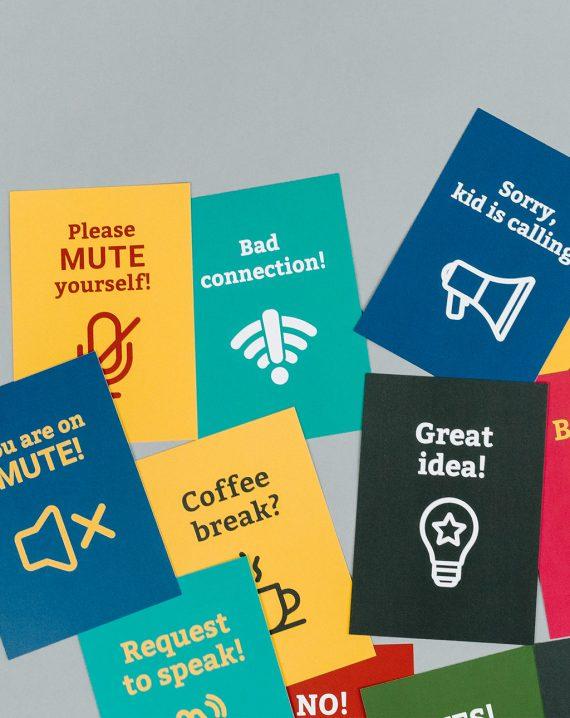 BR Videokonferenzkarten Auswahl der englischen Karten durcheinander liegend