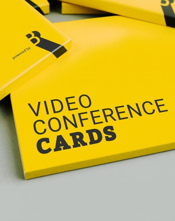 BR Videokonferenzkarten Steckmäppchen in Englisch