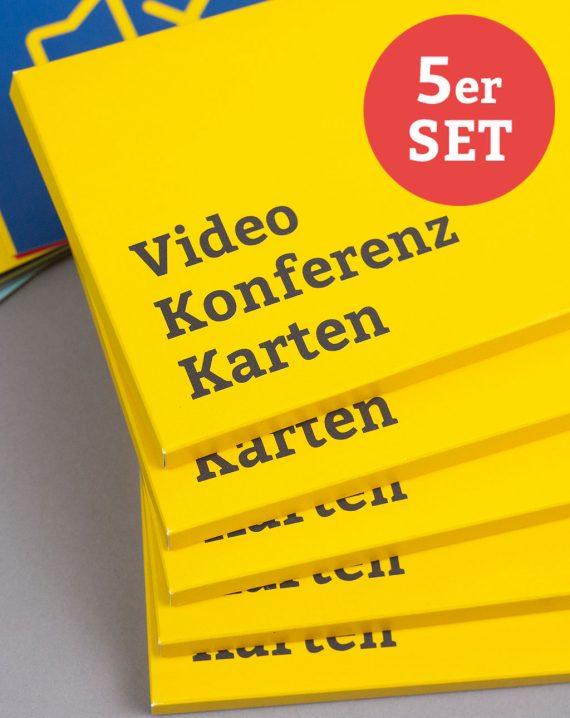 BR Videokonferenzkarten Deutsch Steckmäppchen-Stapel 5er-Set