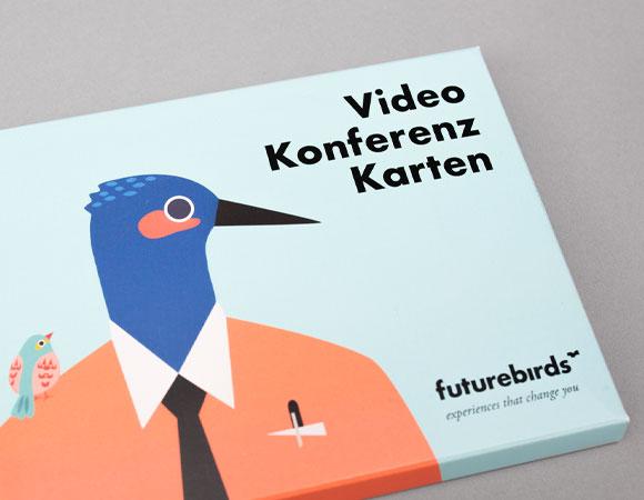 Videokonferenzkarten mit Branding von futurebirds