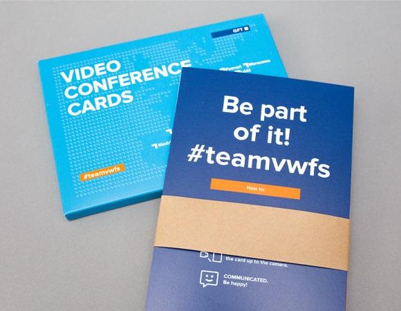 Videokonferenzkarten mit Branding von GFT