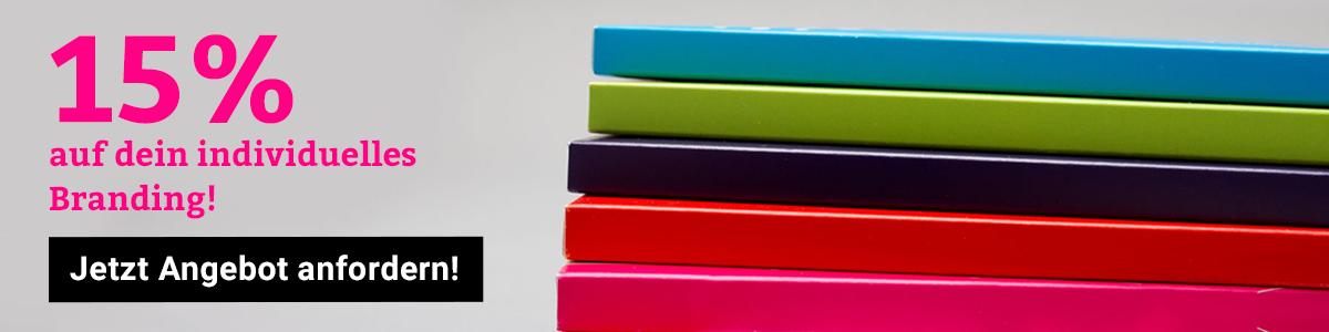 15% Rabatt auf deinen Branding Auftrag mit Videokonferenzkarten