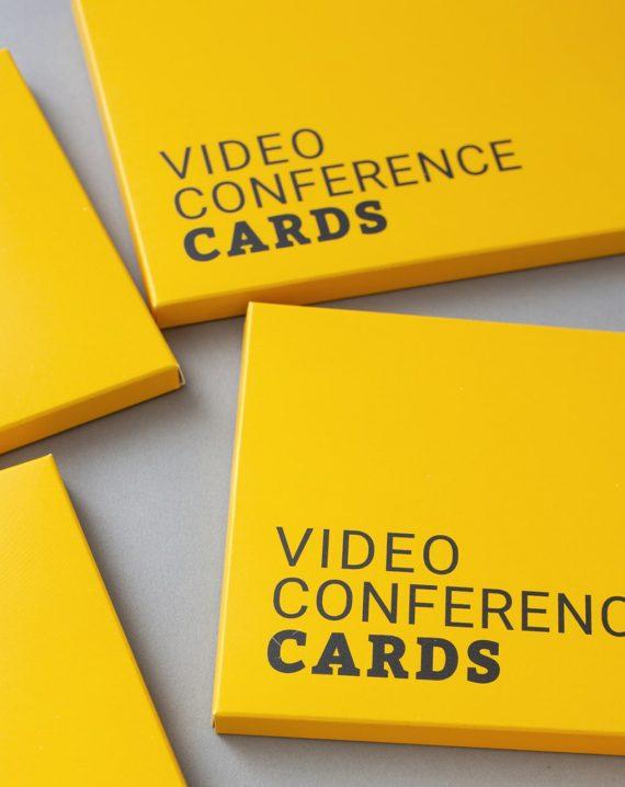 BR Videokonferenzkarten Steckmäppchen in English